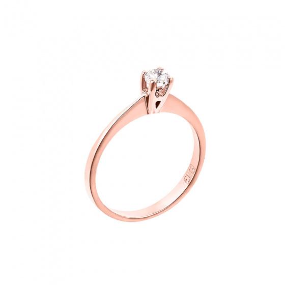 """Εικόνα του """"Ροζ χρυσό μονόπετρο Κ18 """"Eternity Premium 006"""" με μπριγιάν VS1"""""""