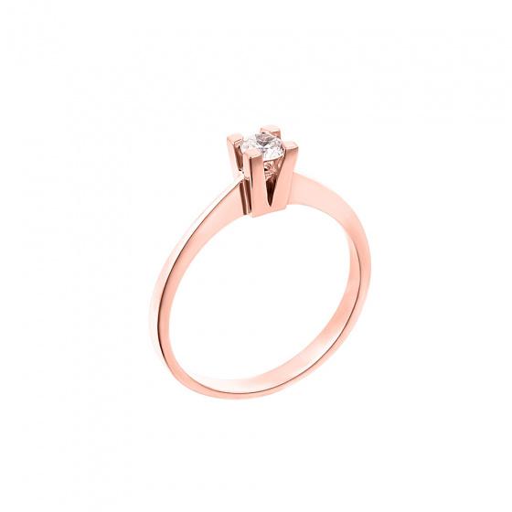"""Εικόνα του """"Ροζ χρυσό μονόπετρο Κ18 """"Eternity Premium 037"""" με μπριγιάν VS2"""""""