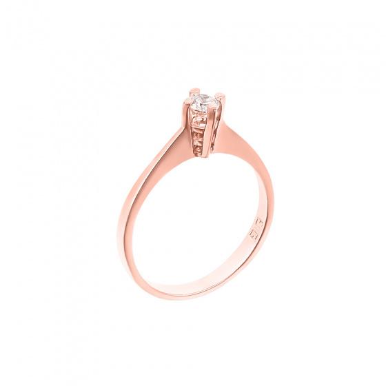 """Εικόνα του """"Ροζ χρυσό μονόπετρο Κ18 """"Eternity Premium 040"""" με μπριγιάν VS1"""""""