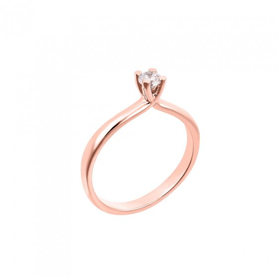 "Image of """"Eternity Premium 043"" rose gold engagement ring K18 with VS2 diamond"""