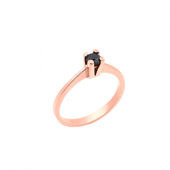 "Image of """"Eternity Plus Black 037"" rose gold engagement ring K14"""