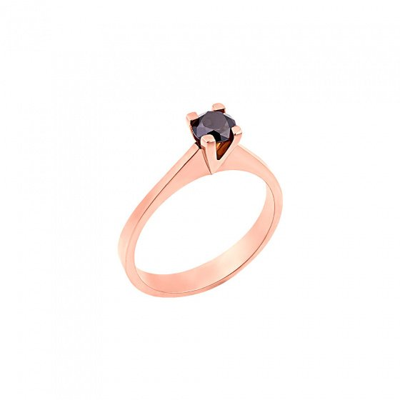 "Image of """"Eternity Plus Black 041"" rose gold engagement ring K14"""