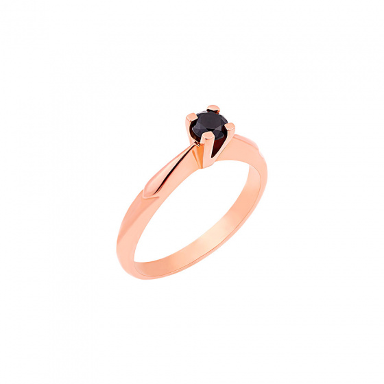 "Image of """"Eternity Plus Black 047"" rose gold engagement ring K14"""