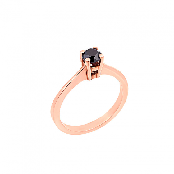 "Image of """"Eternity Plus Black 011"" rose gold engagement ring K14"""