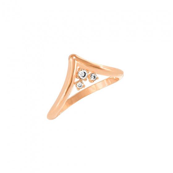 """Image of """"""""Antiope"""" rose gold K14 ring"""""""