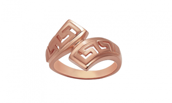 """Image of """"""""Eternal Flow"""" silver ring rose gold plated"""""""