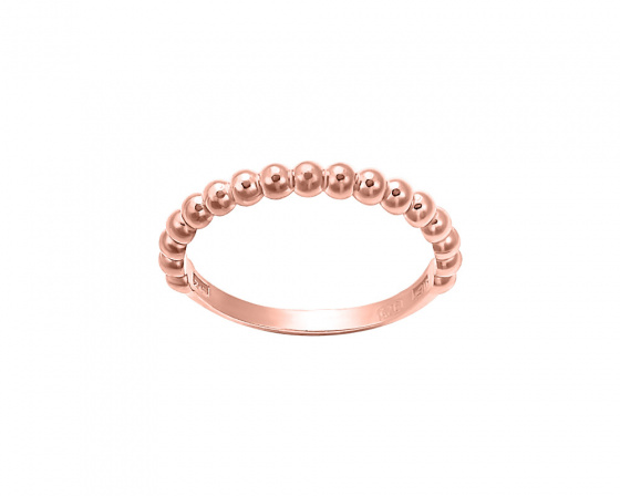 "Image of """"Pendulum swing"" silver ring rose gold plated"""