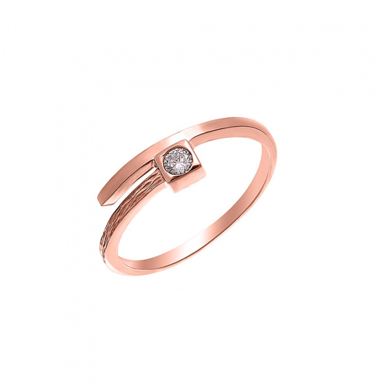 "Image of """"Precious Memories"" silver ring rose gold plated"""
