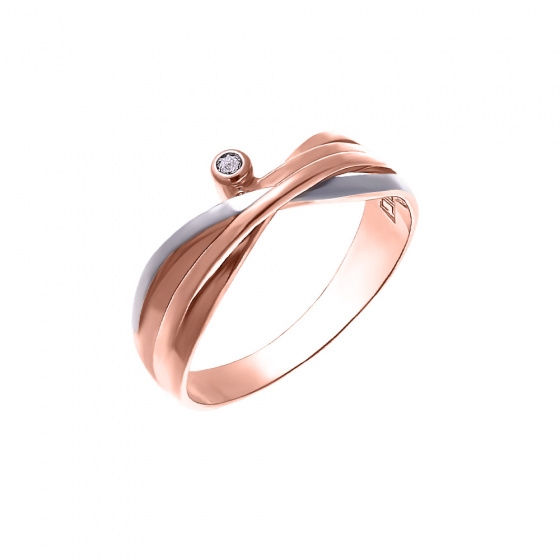 """Image of """"""""Evenstar"""" silver ring rose gold plated"""""""