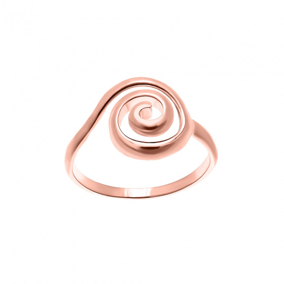 "Image of """"Maelstrom"" silver ring rose gold plated"""