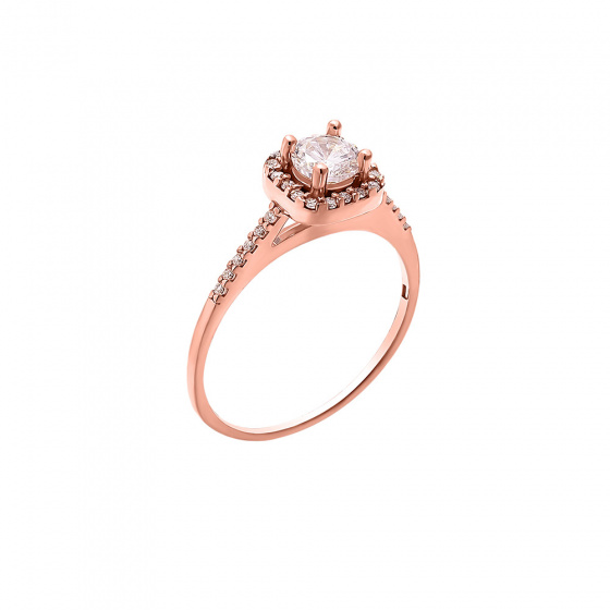 "Image of """"Majesty"" silver ring rose gold plated"""
