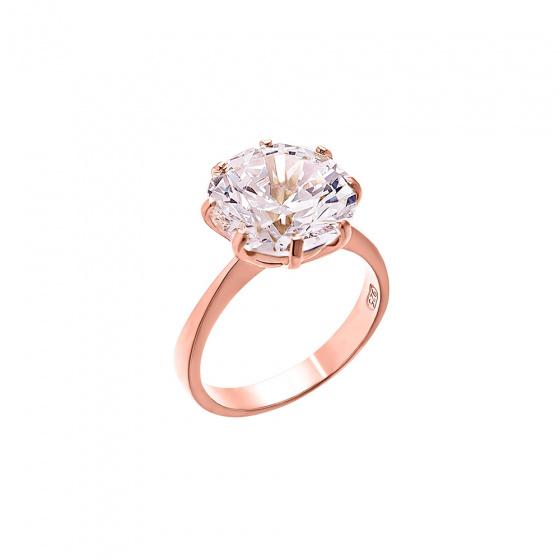 """Image of """"""""Moonlight"""" silver ring rose gold plated"""""""