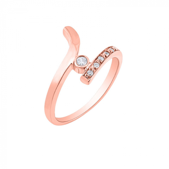 "Image of """"Signature"" silver ring rose gold plated"""