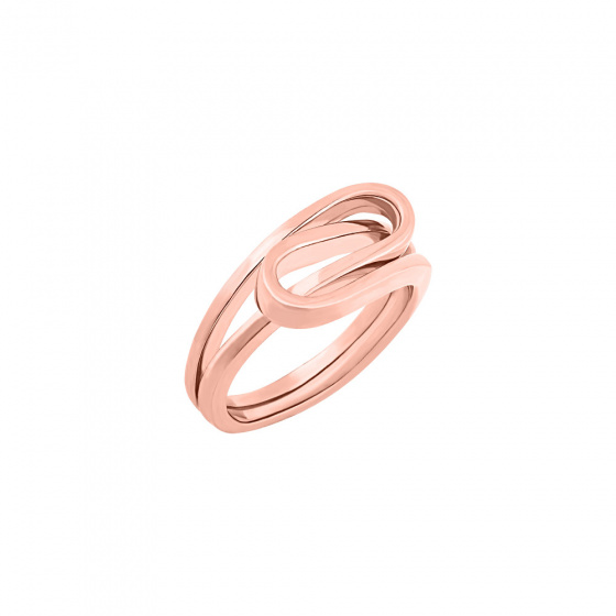 """Image of """"""""Raging Waves"""" silver ring rose gold plated"""""""