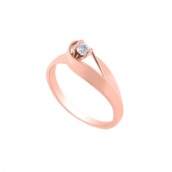"Image of """"Lonely Star"" silver ring rose gold plated"""