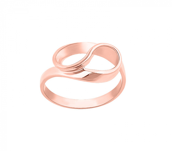 """Image of """"""""Infinito"""" silver ring rose gold plated"""""""