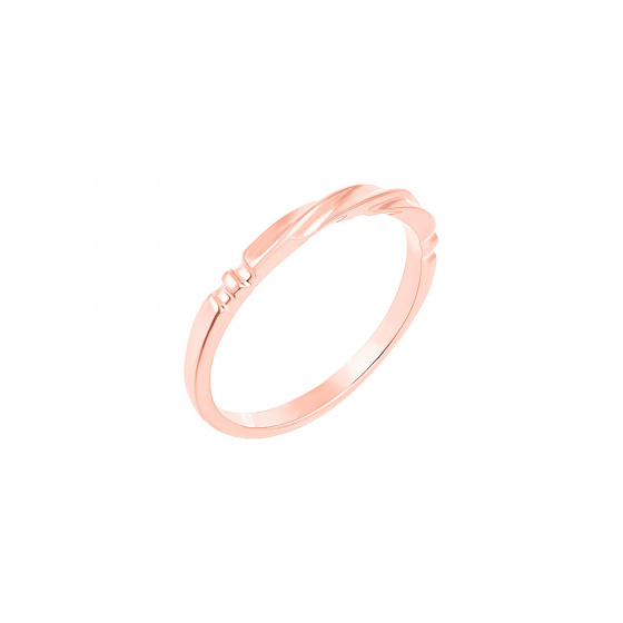 """Image of """"""""Fine Line"""" silver ring rose gold plated"""""""