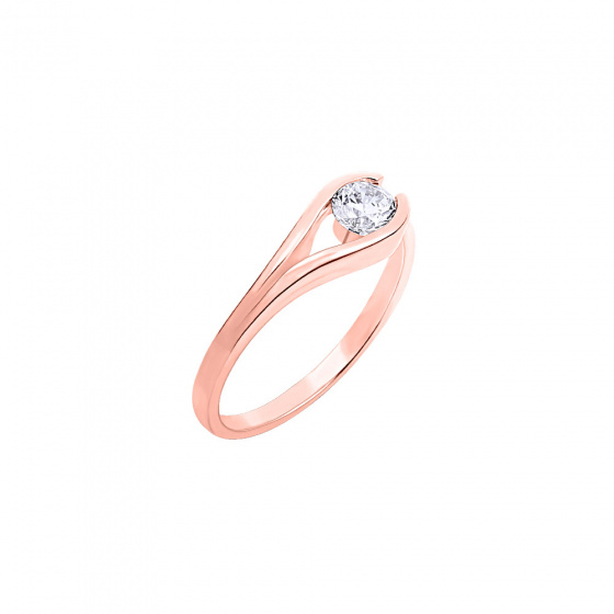 "Image of """"Rock Nest"" silver ring rose gold plated"""