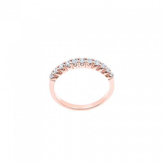 """Image of """"""""Magnificent"""" silver ring rose gold plated"""""""