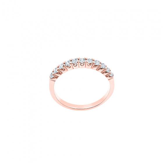 """Εικόνα του """"Ασημένιο δαχτυλίδι """"Magnificent"""" ροζ επίχρυσο """""""