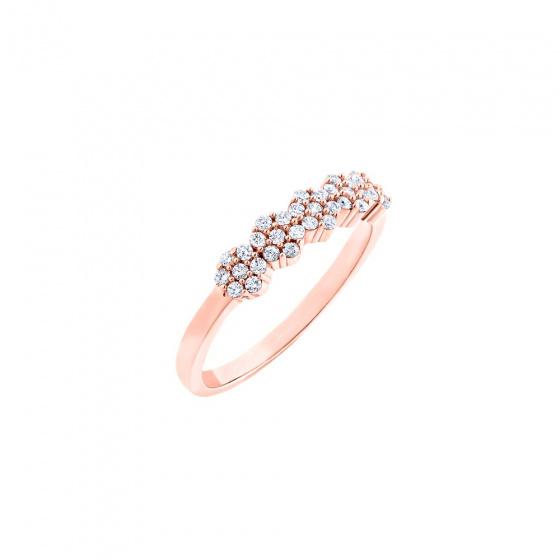 """Εικόνα του """"Ασημένιο δαχτυλίδι """"Luxurious"""" ροζ επίχρυσο """""""