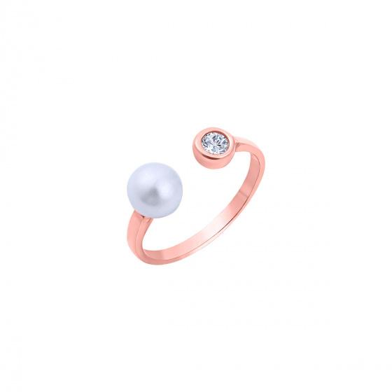 """Εικόνα του """"Ασημένιο δαχτυλίδι """"Gorgeous"""" ροζ επίχρυσο"""""""
