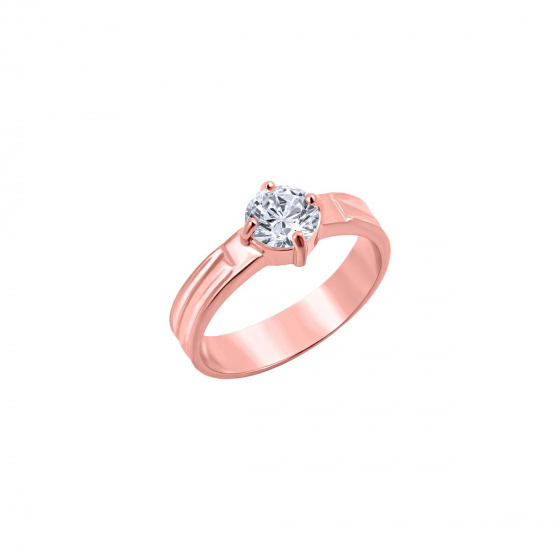 """Image of """"""""Majestic"""" silver ring rose gold plated"""""""