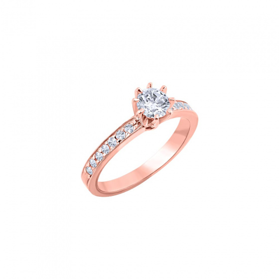 """Image of """"""""Delicate"""" silver ring rose gold plated"""""""