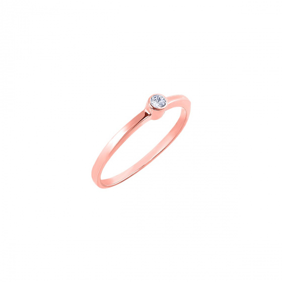 """Image of """"""""Fancy"""" silver ring rose gold plated"""""""