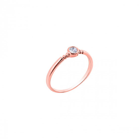 """Image of """"""""Pretty One"""" silver ring rose gold plated"""""""