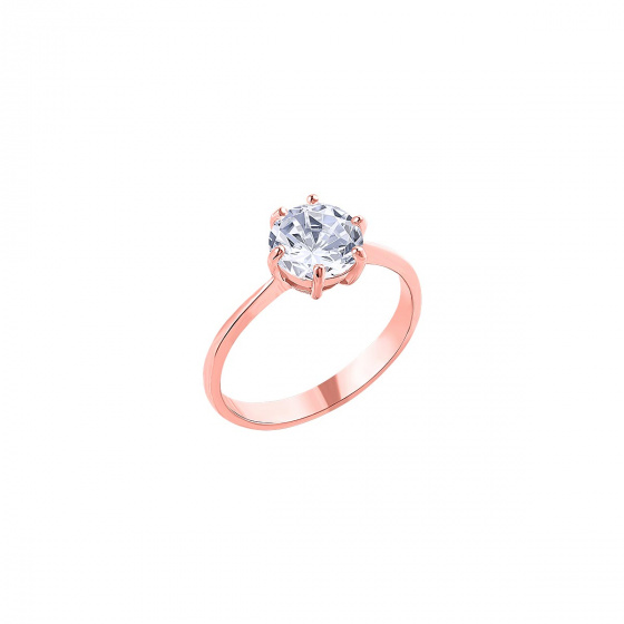 """Image of """"""""Impressive"""" silver ring rose gold plated"""""""