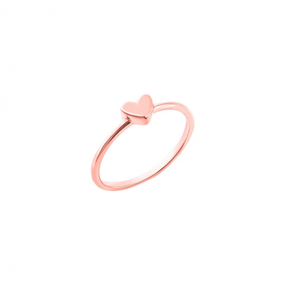 """Image of """"""""Festive Heart"""" silver ring rose gold plated"""""""