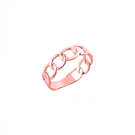 """Image of """"""""Wreath"""" silver ring rose gold plated"""""""