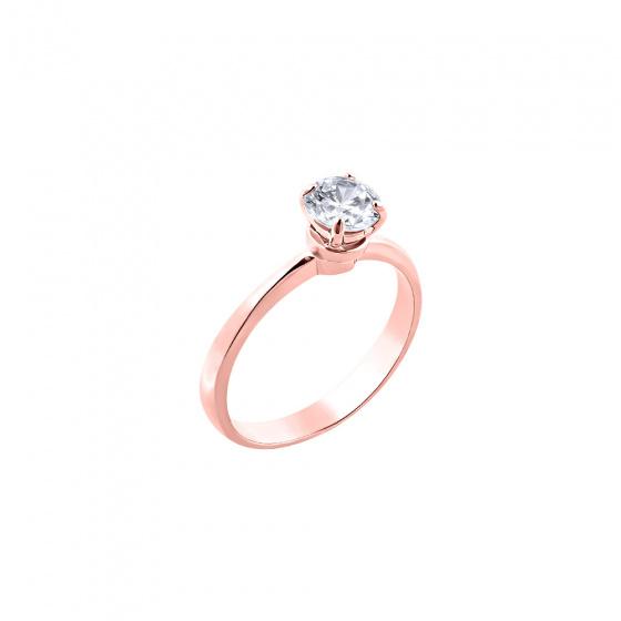 """Εικόνα του """"Ασημένιο δαχτυλίδι """"Miraculous"""" ροζ επίχρυσο"""""""