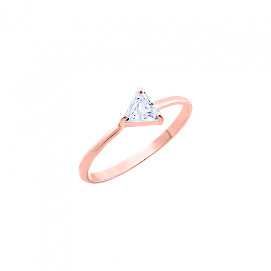 """Image of """"""""Triangle"""" silver ring rose gold plated"""""""