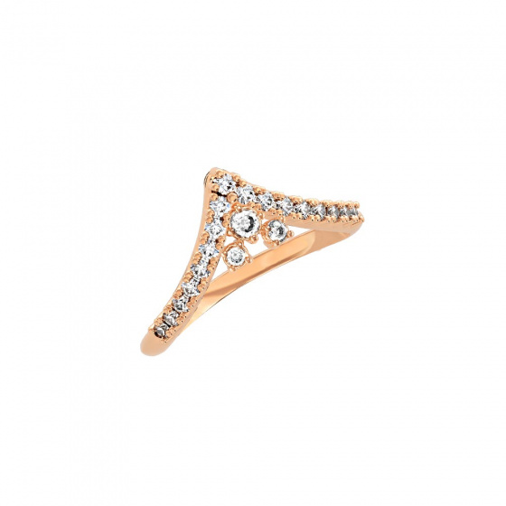 """Image of """"""""Ariadne"""" silver ring rose gold plated"""""""