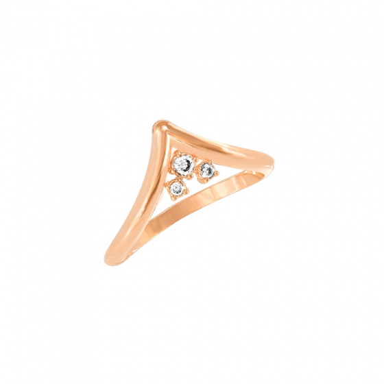 """Image of """"""""Antiope"""" silver ring rose gold plated"""""""