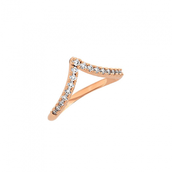 """Image of """"""""Alcyone"""" silver ring rose gold plated"""""""