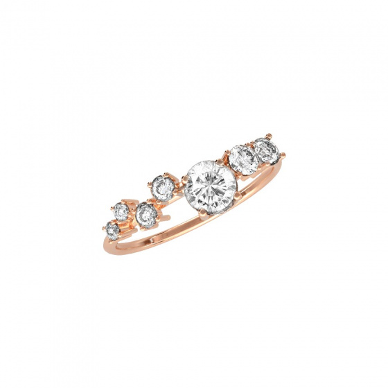 """Image of """"""""Ηeritage"""" silver ring rose gold plated"""""""