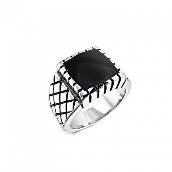 "Image of ""Stainless steel men's ring, SR504"""