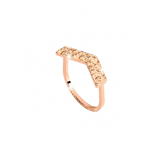 "Image of ""REBECCA Skyline ring in rose gold stainless steel, BSLABR31"""
