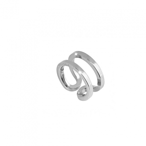"Image of ""REBECCA Stockholm ring in silver stainless steel, BCCABB02"""