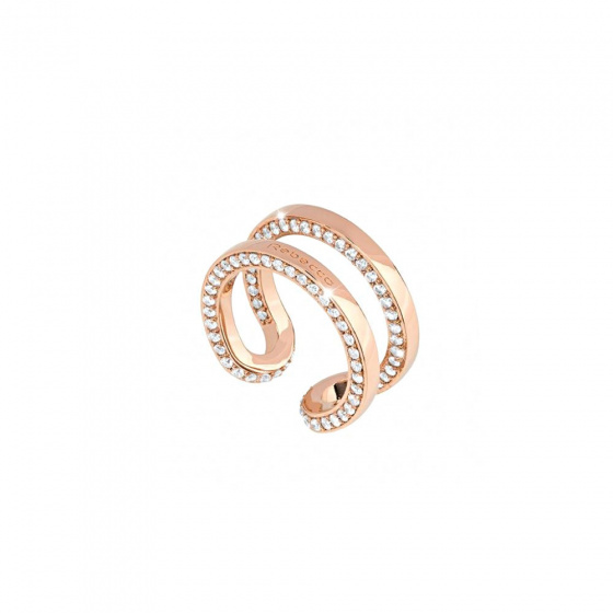 "Image of ""REBECCA Stockholm ring in rose gold stainless steel, BCCABR01"""