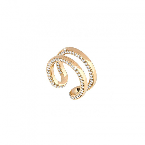 "Image of ""REBECCA Stockholm ring in gold stainless steel, BCCABO01"""