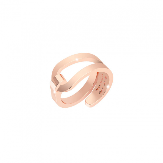 "Image of ""REBECCA Iconic ring in rose gold stainless steel, BICABR01"""