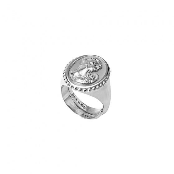 "Image of ""REBECCA Madama ring in silver stainless steel, BMMABB03"""