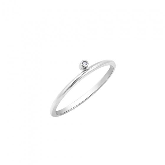 """Image of """"""""Discreet"""" white gold ring K9"""""""