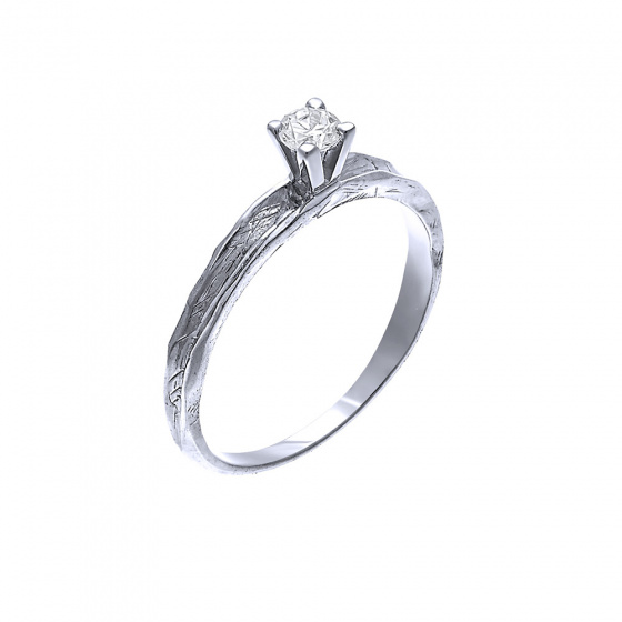 """Image of """"""""Shard of Dreams"""" white gold ring K9"""""""