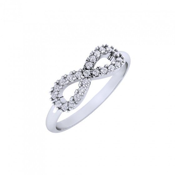 """Image of """"""""Infinite Stars"""" white gold ring K9"""""""
