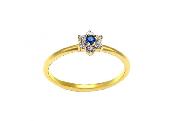 """Εικόνα του """"Χρυσό δαχτυλίδι Κ14 """"Seaflower"""""""""""